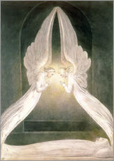 Selvklæbende plakat Christ in the Sepulchre, Guarded by Angels