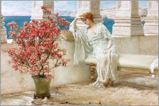 Galleritryk  Her eyes are with her thoughts and they are far away - Lawrence Alma-Tadema