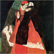 Selvklæbende plakat  Cardinal and Nun (Caress) - Egon Schiele