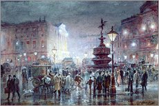 Galleritryk  Piccadilly Circus at Night, 1911 - Thomas Prytherch