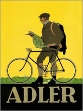 Selvklæbende plakat  Adler Bicycles - Advertising Collection