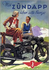 Galleritryk  With Zündapp over the hills (German) - Advertising Collection