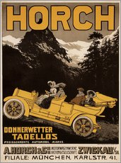 Selvklæbende plakat  Horch cars - Golly impeccable - Advertising Collection