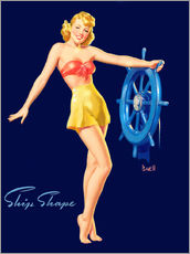 Galleritryk  Pin Up - Ship Shape - Al Buell