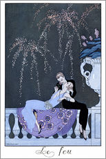 Galleritryk  The Fire - Georges Barbier
