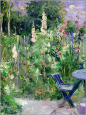 Galleritryk  Hollyhocks - Berthe Morisot