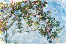 Selvklæbende plakat  The Roses - Claude Monet