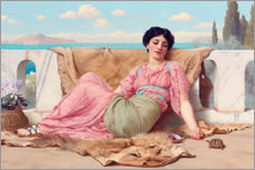 Galleritryk  A Quiet Pet - John William Godward