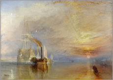 Selvklæbende plakat  The Fighting Temeraire - Joseph Mallord William Turner