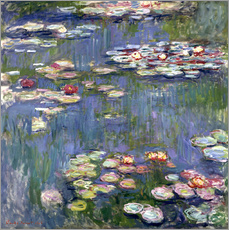 Selvklæbende plakat  Haven i Giverny - Claude Monet