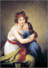 Galleritryk  Elisabeth Louise Vigee-Lebrun with daughter - Elisabeth Louise Vigee-Lebrun