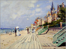Galleritryk  The beach at Trouville - Claude Monet