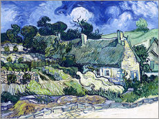 Galleritryk  Thatched cottages at Cordeville - Vincent van Gogh