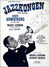Galleritryk  Louis Armstrong New Orleans