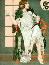 Galleritryk  Lady writing - Clarence Coles Phillips