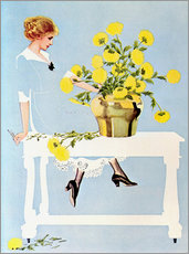 Galleritryk  Housekeeper with bouquet - Clarence Coles Phillips