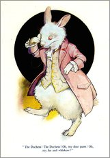 Galleritryk  The rabbit of Alice