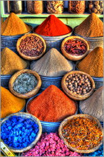 Galleritryk  Colorful spices on the bazaar in Marrakech - HADYPHOTO