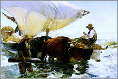 Selvklæbende plakat  Return from Fishing - Joaquín Sorolla y Bastida