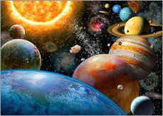Galleritryk  Planets and Their Moons - Adrian Chesterman