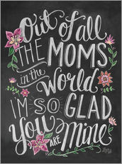Galleritryk  Best mom of the world - Lily & Val