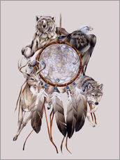 Galleritryk  Dream catcher - Jody Bergsma