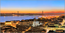 Selvklæbende plakat  Panorama  of Lisbon Portugal - Fine Art Images