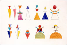 Galleritryk  Sketch for picture XVI, The Great Tower of Kiev - Wassily Kandinsky