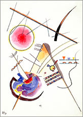 Selvklæbende plakat  Watercolor from the Hess Guest Book - Wassily Kandinsky