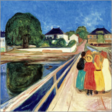 Akrylbillede  Girl on a Bridge - Edvard Munch
