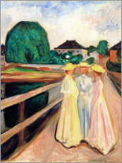 Akrylbillede  Girls on the pier - Edvard Munch