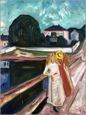 Akrylbillede  The Girls on the Bridge - Edvard Munch