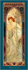 Akrylbillede  Times of the Day - Evening Contemplation - Alfons Mucha