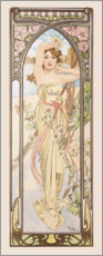 Premium-plakat  Times of the Day - Brightness of Day - Alfons Mucha