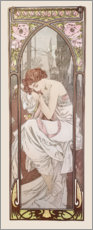 Lærredsbillede  Times of the Day - Night's Rest - Alfons Mucha
