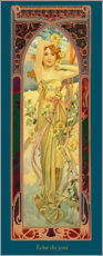 Akrylbillede  Times of the Day - Brightness of Day - Alfons Mucha