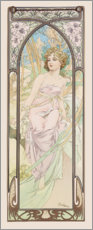 Akrylbillede  Times of the Day - Morning Awakening - Alfons Mucha