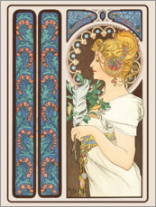 Galleritryk  The Feather, dekorativ - Alfons Mucha