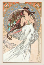 Selvklæbende plakat  The Arts - Music - Alfons Mucha