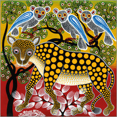 Galleritryk  Cheetah in the bush - Mzuguno