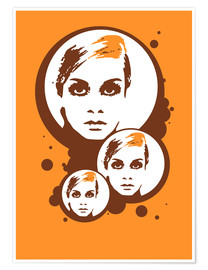 Premium-plakat Twiggy Mathmos Orange