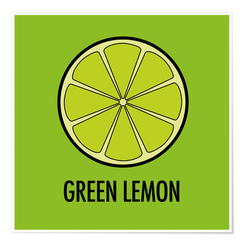 Premium-plakat Green Lemon Juice