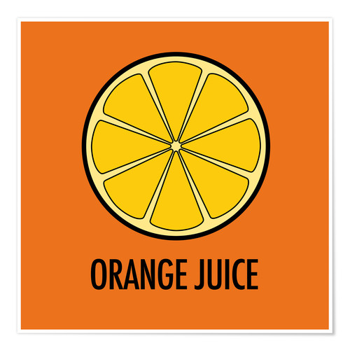 Premium-plakat Orange Juice