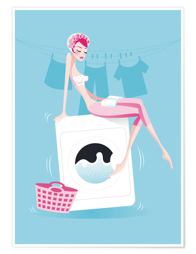 Premium-plakat Washing day