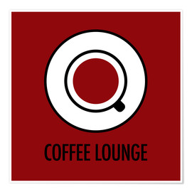 Premium-plakat Coffee Lounge, brown