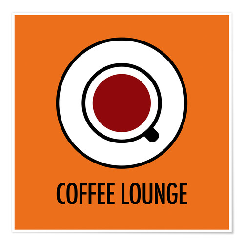 Premium-plakat Coffee Lounge, orange