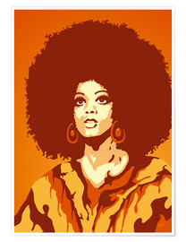 Premium-plakat 70s orange soul mom
