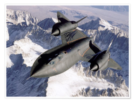 Premium-plakat SR-71B Blackbird in Flight