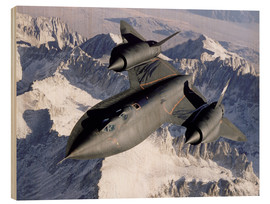 Print på træ  SR-71B Blackbird in Flight - Stocktrek Images