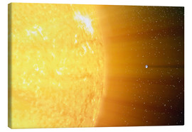 Lærredsbillede  The relative sizes of the Sun and the Earth